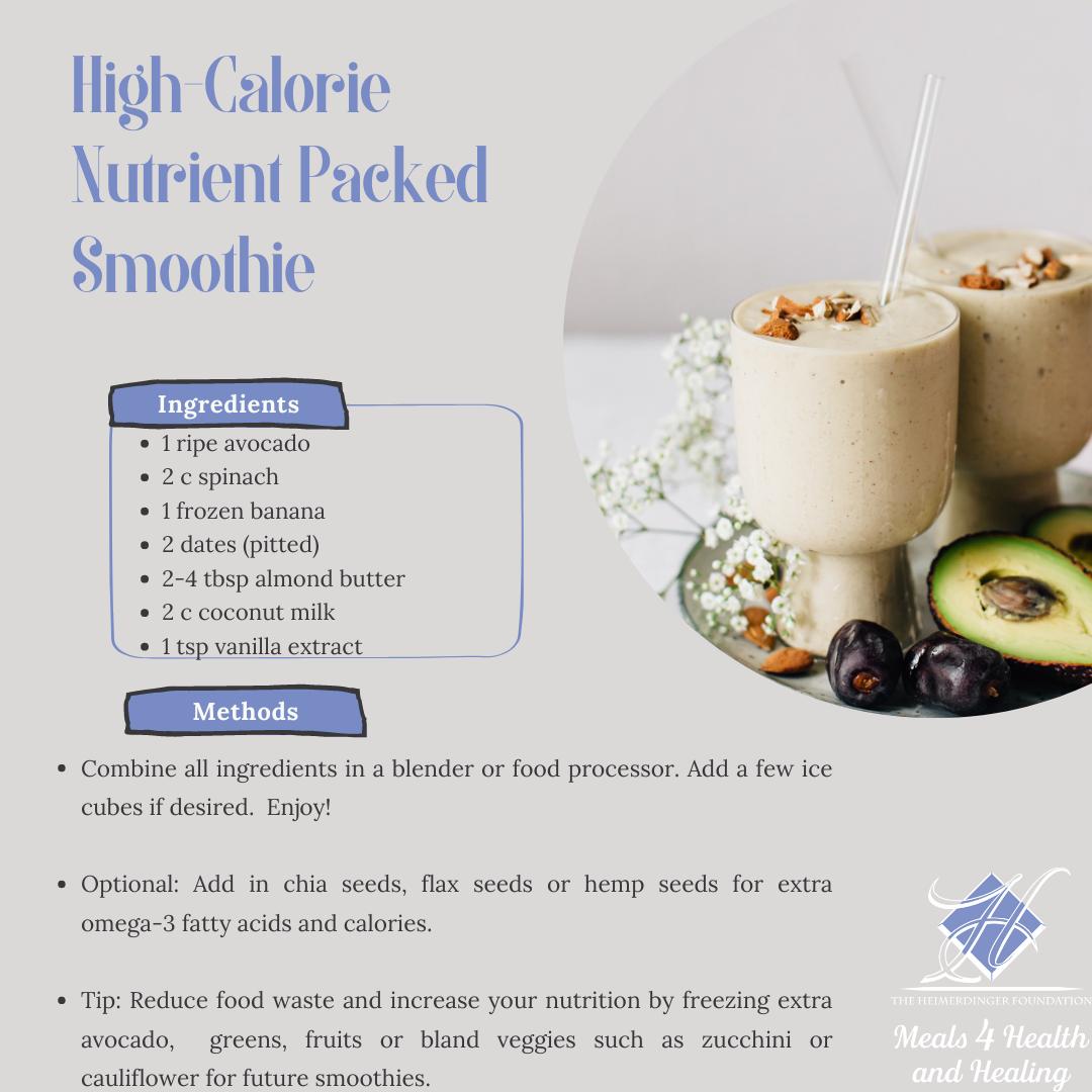 High Calorie Smoothie